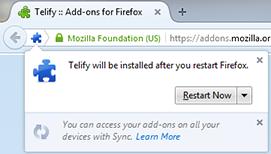 Restart browser message