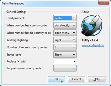 Telify preferences