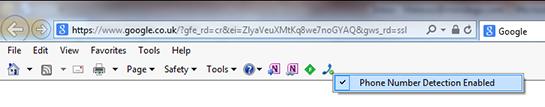 Internet Explorer Command Bar