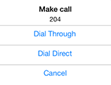 Dialing options